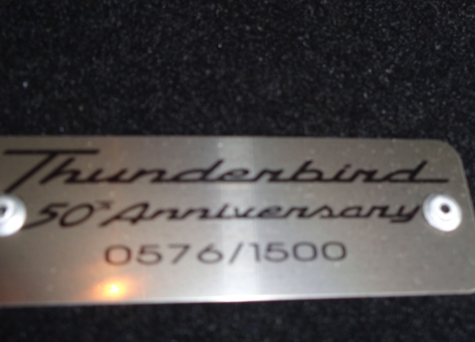 4th Image of a 2005 FORD THUNDERBIRD 50TH ANNIVERSARY