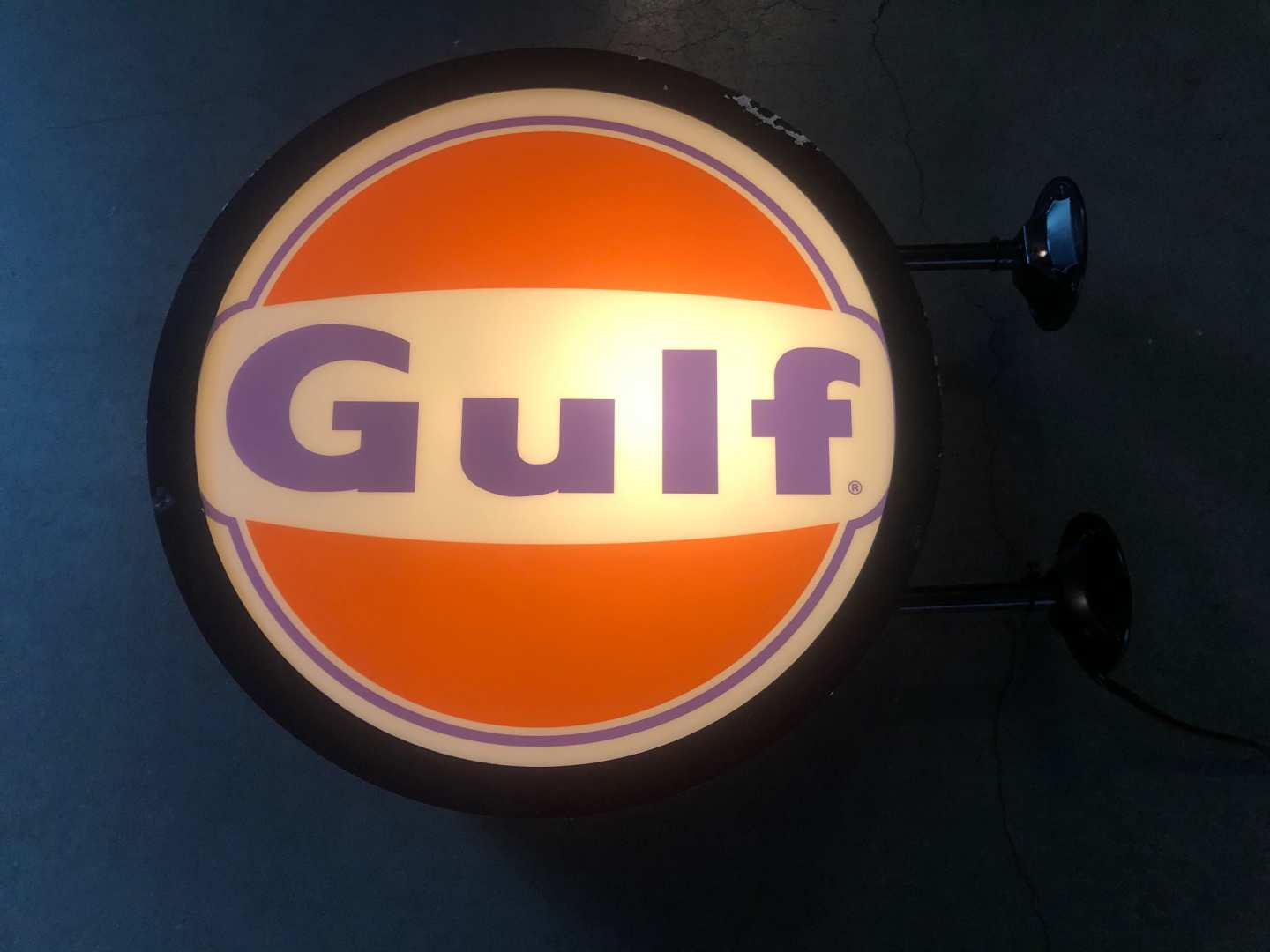 1st Image of a N/A GULF OIL LIGHTED SIGN