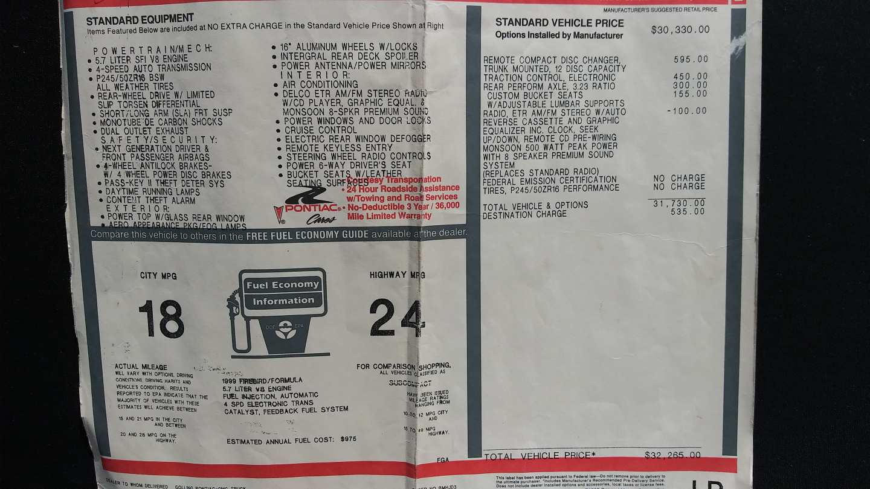 14th Image of a 1999 PONTIAC TRANS AM